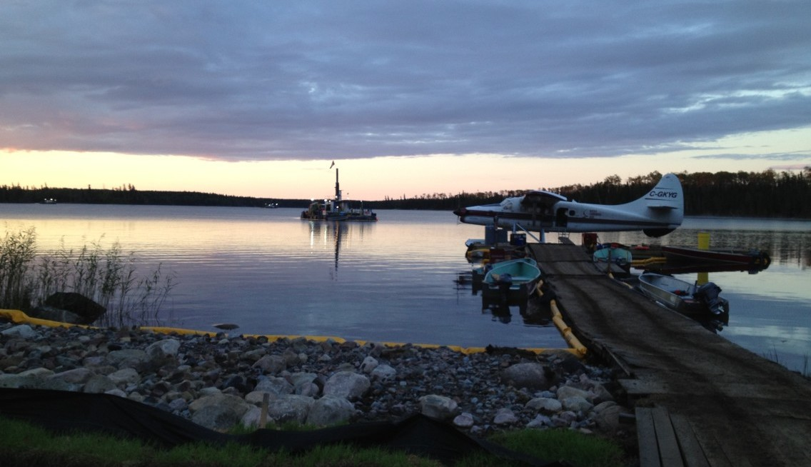Floating Drill Camp at Sunset Client Site – Global Hydration
